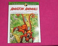 creative haven amazon animals adult coloring book with a hidden picture twist in Kingwood, Texas