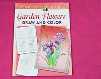 creative haven garden flowers draw & color adult coloring book in Kingwood, Texas