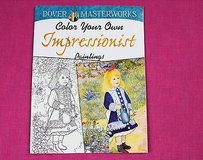dover masterworks color your own impressionist paintings adult coloring book in Kingwood, Texas