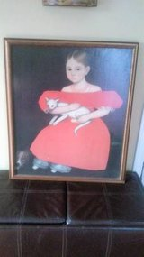 AMMI PHILLIPS GIRL IN RED DRESS OIL ON CANVAS REPRODUCTION in Joliet, Illinois