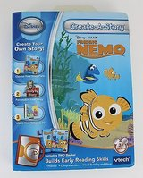 NEW Disney Pixar NEMO V-Tech Create-A-Story Learning 2 Books 1 Game Cartridge in Oswego, Illinois