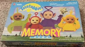 Teletubbies Memory Match Game Complete 1999 Milton Bradley Ages 2+ in Lockport, Illinois