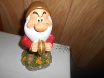 "New 9"" Disney Snow White  Dwarf Garden Gnome- GRUMPY (playing cymbals) in Spring, Texas"