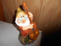 "New 9"" Disney Snow White  Dwarf Garden Gnome- DOC (playing cello) in Spring, Texas"