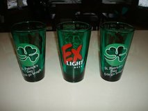 """3"" Promo Authentic EX Light Beer St Patrick's Day Green Pint Glasses in Brookfield, Wisconsin"