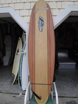 Surfboard funboard > 7 foot Perfection epoxy funboard/ wood color in Wilmington, North Carolina
