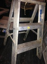 2 small metal folding step ladder aluminum industrial decor plant stand in Travis AFB, California