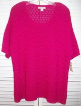 New! Sz 1X / 18 Coldwater Creek Pink Lattice Stitch Sweater in Orland Park, Illinois