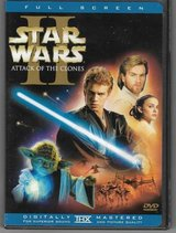 Star Wars Episode II Attack of the Clones DVD 2-Disc Set Full Screen in Naperville, Illinois