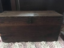 Primitive Antique Large Wood Tool Box with Pull out tray in Joliet, Illinois