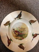 Staffordshire Ironstone Scalloped Bowl Pheasant with her Chick in Travis AFB, California