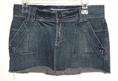 Mossimo Lowest Rise Buckle Back Denim Jean Mini Skirt Womens 5 Juniors in Morris, Illinois