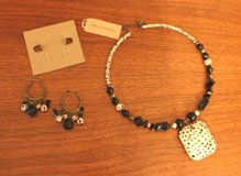 NWT Erica Lyons Jewelry Set - Hoop Choker, Pierced Hoop Earrings, SRP $53 in Oswego, Illinois