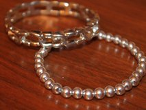 Pair of Silver Tone Lightweight Stretch Bacelets in Naperville, Illinois