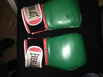 Boxing Gloves 14 Green/Red/White in Travis AFB, California