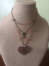 Betsey Johnson Heart Leopard Necklace in Wilmington, North Carolina