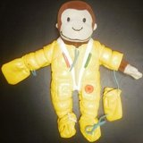 """curious george teach me zip button buckle tie velcro 11"""" toy plush stuffed doll in Naperville, Illinois"""