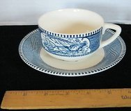 Set of 8 Currier and Ives Cups Saucers in Joliet, Illinois