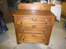 Antique Three Drawer Walnut Chest of Drawers in Camp Lejeune, North Carolina