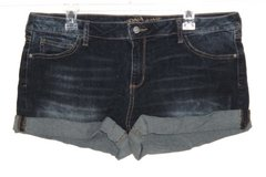 Arizona Cuffed Whiskered Denim Jean Short Shorts Womens 17 Juniors Stretch in Yorkville, Illinois
