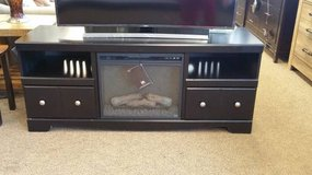 BLACK TV STAND/FIREPLACE in Schofield Barracks, Hawaii