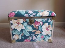 Green Flowered Small Storage Trunk in Schaumburg, Illinois
