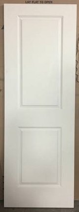 "Masonite 28"" x 80"" Smooth 2-Panel Solid Core Primed Composite Door in Lockport, Illinois"