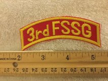 3rd FSSG tab for tour jacket cruise shadowbox -  local made 1980's in Okinawa, Japan