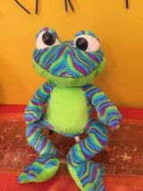 "20"" frog printed plush toy factory cool colorful frog plush blue green in Bolingbrook, Illinois"