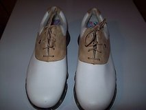 womens dryjoy golf shoes size 7.5w white and tan leather excellent condition in Naperville, Illinois