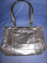 "COACH Leather Purse Black #0646-129 LARGE 12.5"" x 17.5"" x 4.5"" VINTAGE in Naperville, Illinois"