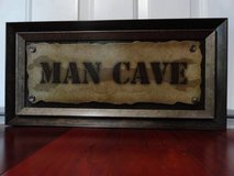 MAN CAVE WOODEN WALL ART GARAGE SIGN in Fairfield, California