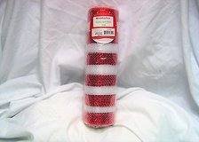 """Holiday time 10"""" x ft deco mesh decorative poly christmas roll red stripe craft in Kingwood, Texas"""