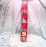 """Holiday time 18"""" x 15 ft deco mesh decorative poly white ploy red stripe in Houston, Texas"""