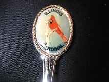 illinois cardinal vacation memory usa state collector souvenir spoon travel in Kingwood, Texas