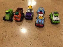lot of 5 tonka die cast mixed trucks and cars in Chicago, Illinois
