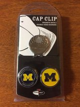 university of michigan wolverines magnetic cap clip with 2 double sided markers in Plainfield, Illinois