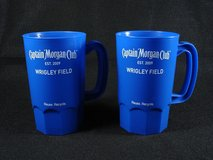 2 Captain Morgan Club Wrigley Field Chicago Cubs Plastic Cups Mugs in St. Charles, Illinois