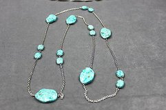 long chain necklace with turquoise blue beads in Houston, Texas