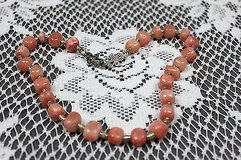 necklace made with real stones - peach color in Houston, Texas