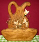 DECORATIVE PITCHER AND BOWL - WOOD in Elgin, Illinois