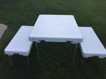 ~KIDS PICNIC TABLE AND BENCH SET~FOLDS TOGETHER AND HAS HANDLE!~ in Naperville, Illinois