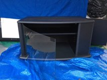 Black TV Stand with Storage and Cabinet on Side in Wilmington, North Carolina