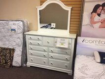 ***VAUGHAN BASSETT Cottage Triple Dresser w/Mirror & Large Nightstand in Beaufort, South Carolina