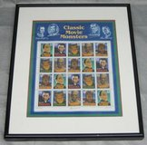 ART - Matted & Framed Classic Movie Monsters Stamp Sheet - 1996 in Joliet, Illinois
