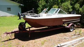 Fisher Boat Trailer (with Boat, Engine and Trolling Motor) - boats - by owner - marine sale in Fort Polk, Louisiana