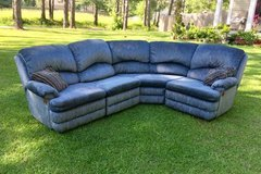 Blue 4 Piece Sectional Couch w/ Recliners in Camp Lejeune, North Carolina