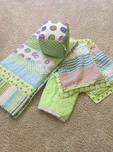 full size 5 piece bedding set green in Naperville, Illinois