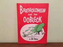 RARE Vintage 1976 Dr Seuss Bartholomew And The Oobleck Hard Cover Book in Plainfield, Illinois
