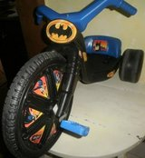 Playskool ride-on 16 BATMAN Power Cycle 1988 Big Wheel Trike Tricycle Bigwheel in Naperville, Illinois